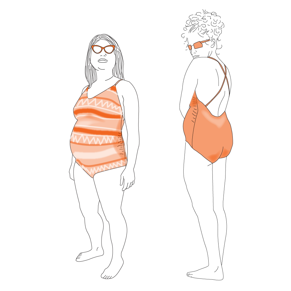 Tuesday Stitches - Laminaria Maternity Swimsuit - on MaternitySewing.com