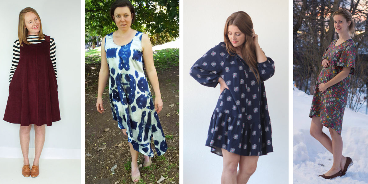 no waistline loose tops and dresses on maternity sewing