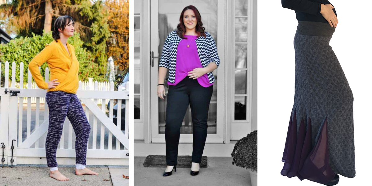 overbelly pants on maternity sewing