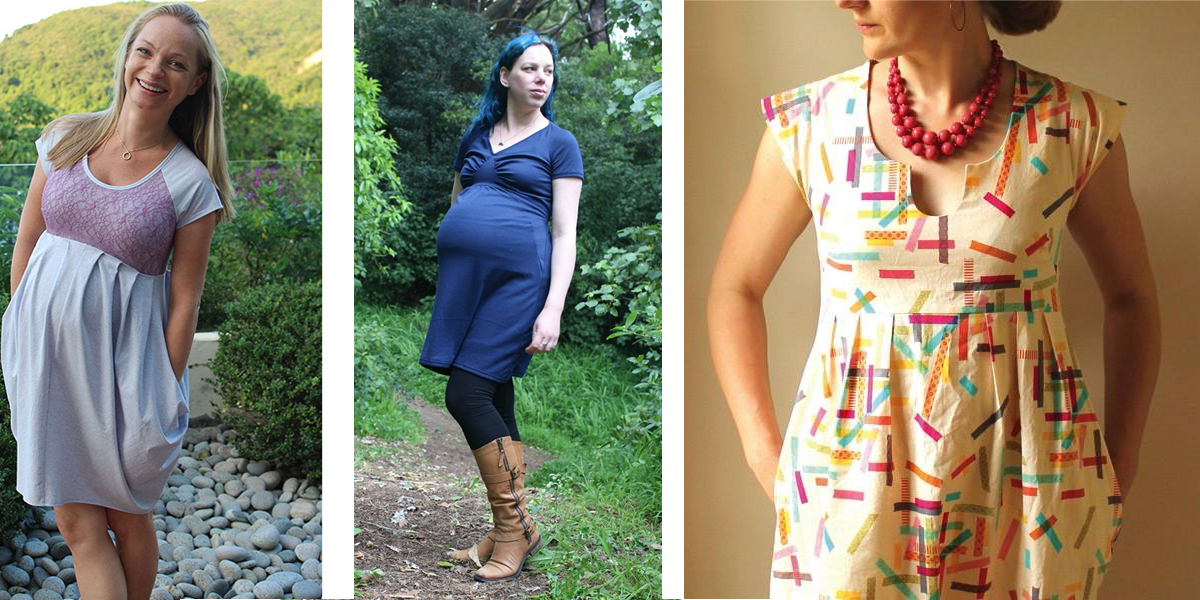 overbelly tops on maternity sewing