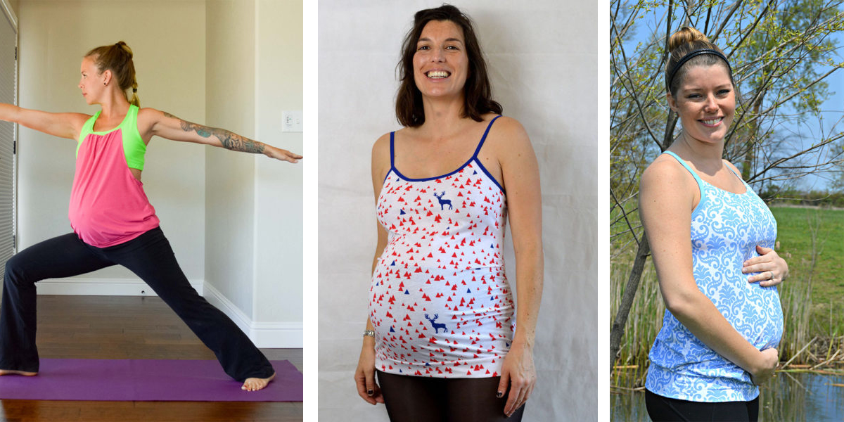 underbelly tops on maternity sewing