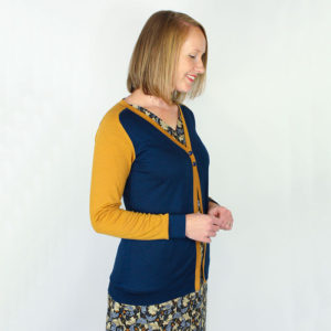 The Juniper Cardigan - Jennifer Lauren Handmade - on Maternity Sewing