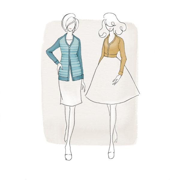 The Juniper Cardigan - Jennifer Lauren Handmade - on Maternity Sewing