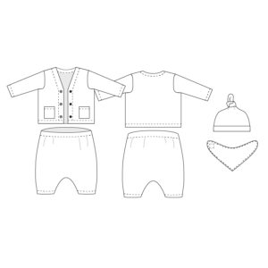 Electron Layette - Baby's first Clothes - on Maternity Sewing