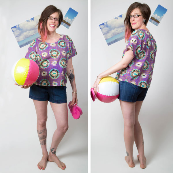 Tuesday Stitches - Ultraviolet Tee - on MaternitySewing.com