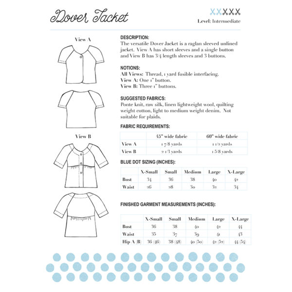 Dover Jacket by Blue Dot Patterns on MaternitySewing.com