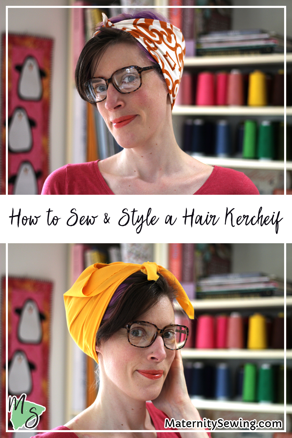 How to Sew and Style a Hair Kerchief. On MaternitySewing.com