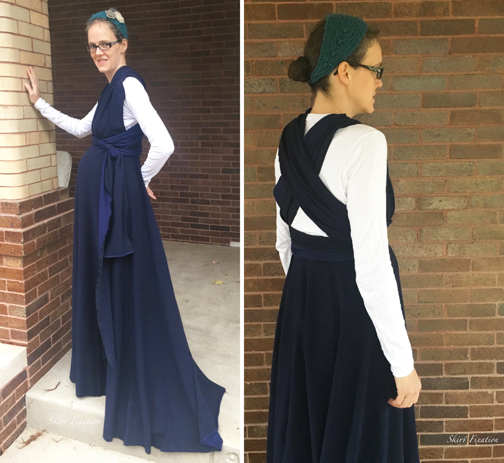 Audrey in Maternity Sewing Knit Infinity Dress