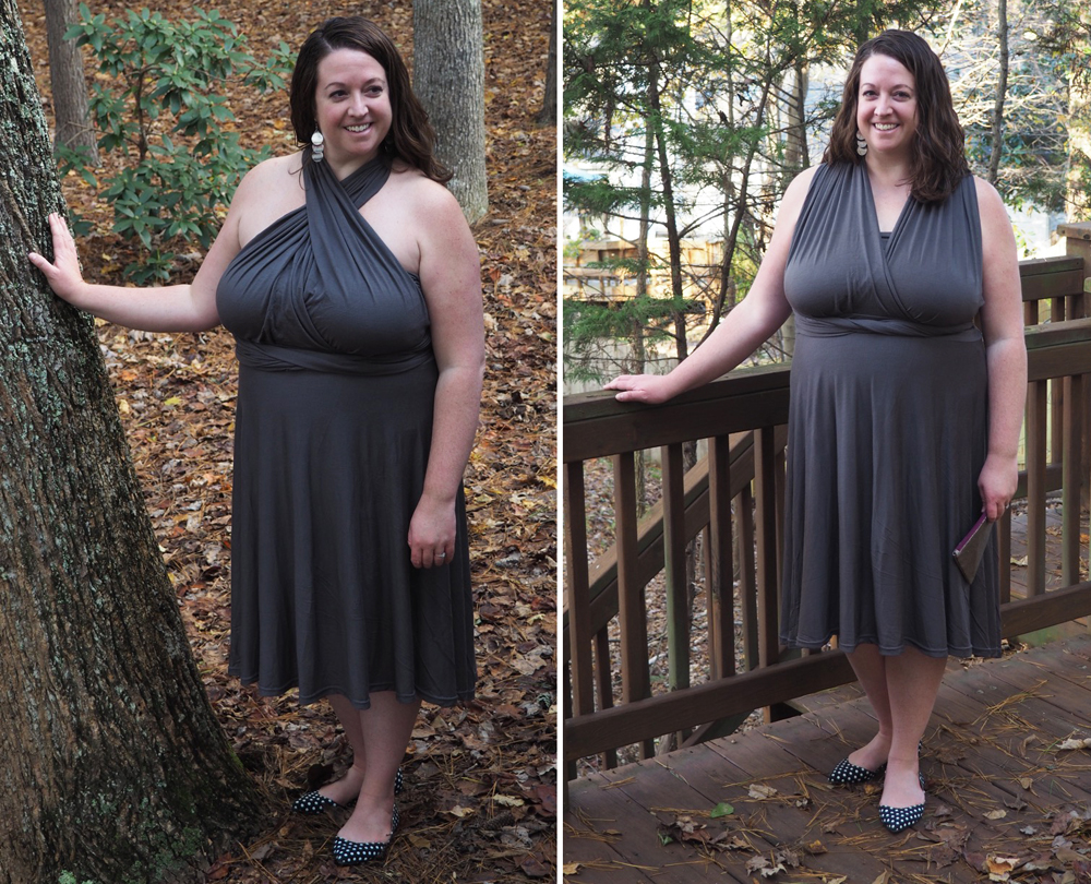 Courtney in Maternity Sewing Knit Infinity Dress