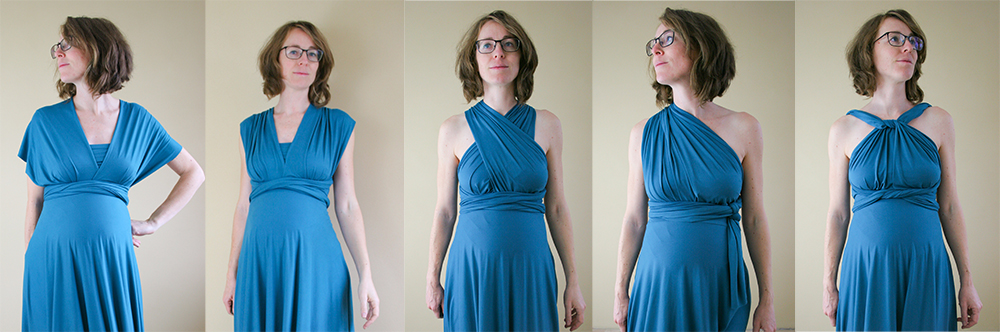 Knit Infinity Dress Sewing Pattern by Maternity Sewing
