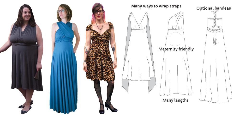 The Knit Infinity Dress by Maternity Sewing