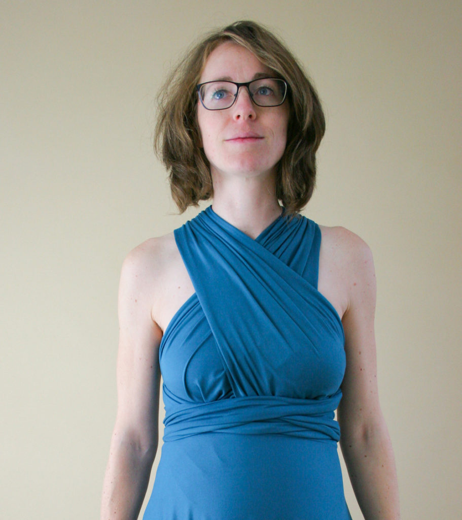 Sexy ways to wrap an infinity dress from Maternity Sewing