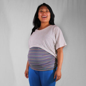 Ultraviolet Maternity Tee - Tuesday Stitches - on Maternity Sewing