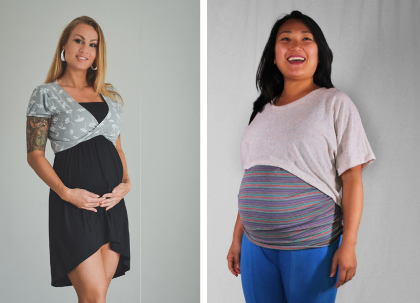 cropped maternity shirts on maternity sewing