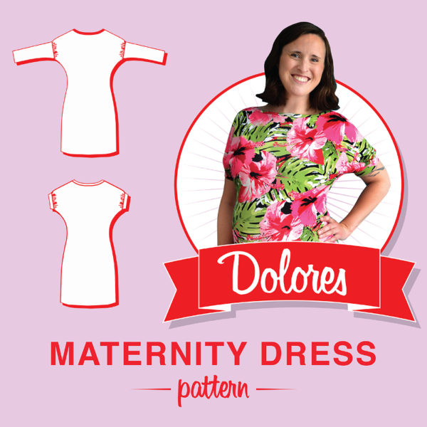 Dolores Maternity Dress - So Zo - on Maternity Sewing