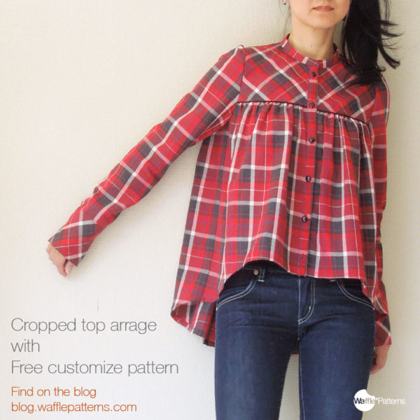 Pancake Gathered Blouse - Waffle Patterns - on Maternity Sewing