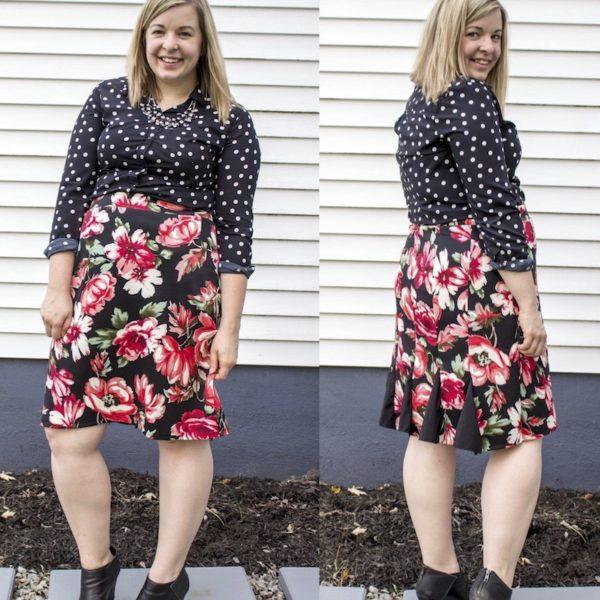 Darcy Runway Skirt - Savvy Patterns - on Maternity Sewing