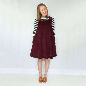 The Ivy Pinafore - Jennifer Lauren Handmade - on Maternity Sewing