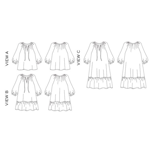 True Bias - Roscoe Blouse & Dress - on Maternity Sewing