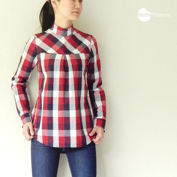 Pine Blouse - Waffle Patterns - on Maternity Sewing