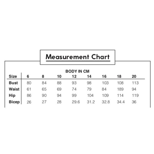 Paper Theory - size chart on MaternitySewing.com