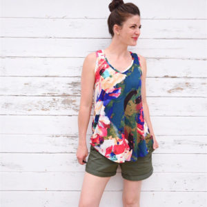 Chalk & Notch Pony Tank on MaternitySewing.com