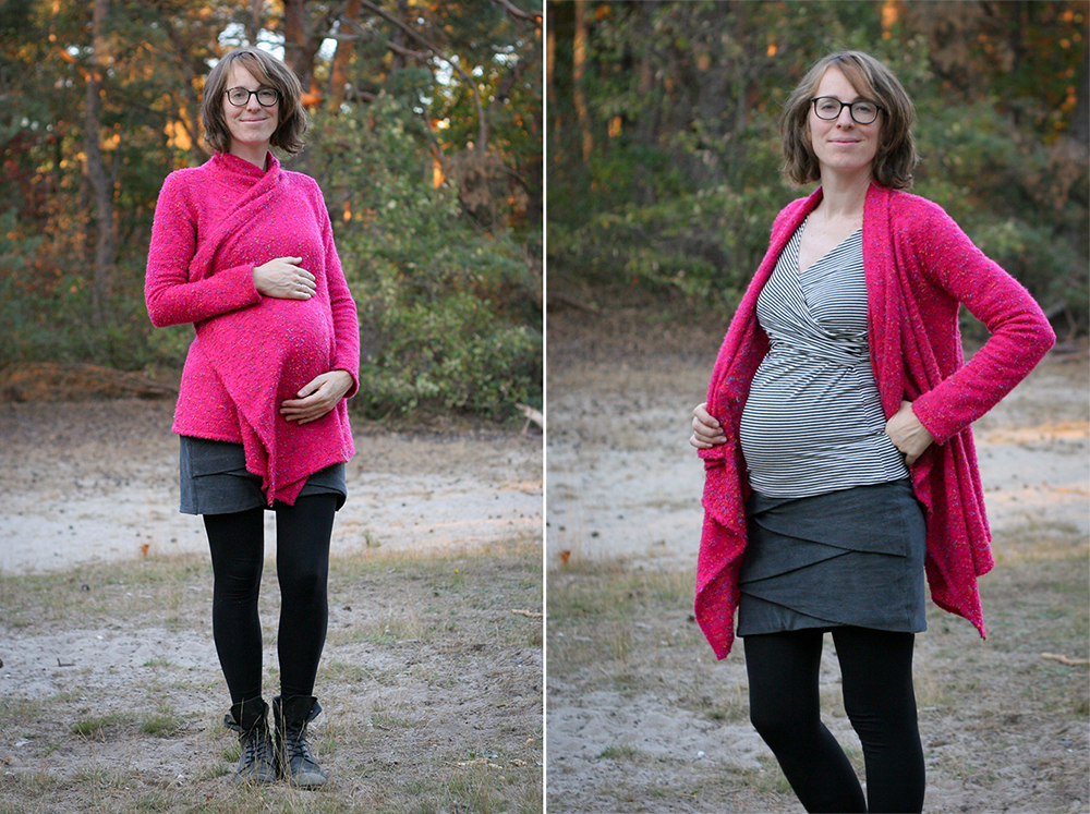 Maternity Style - Cappuccino Cardigan - on Maternity Sewing