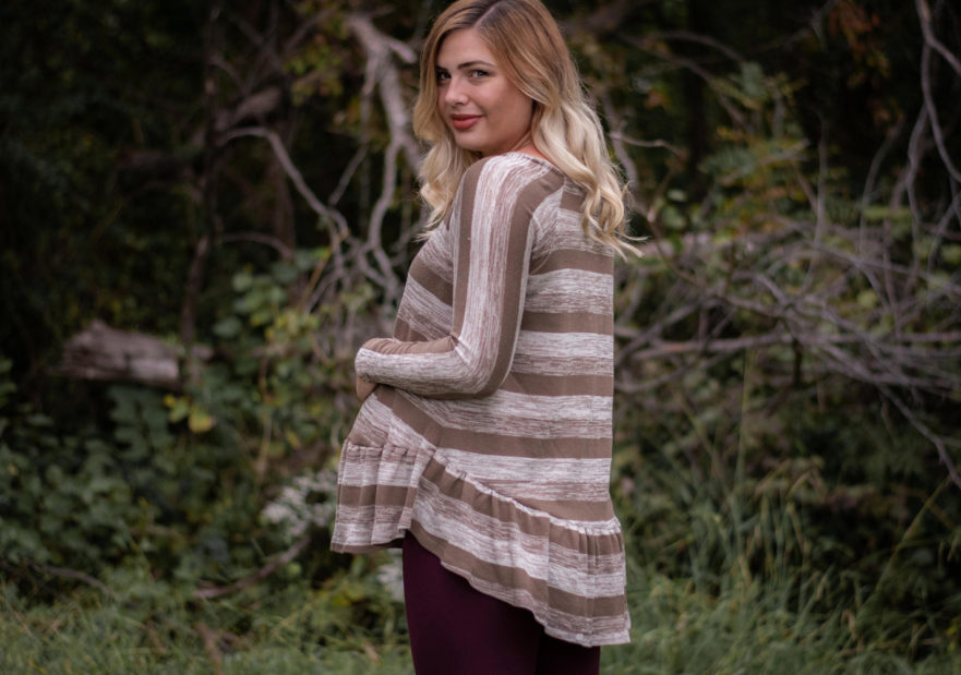 Waterfall Raglan - made by Pins & Pinot - on Maternity Sewing