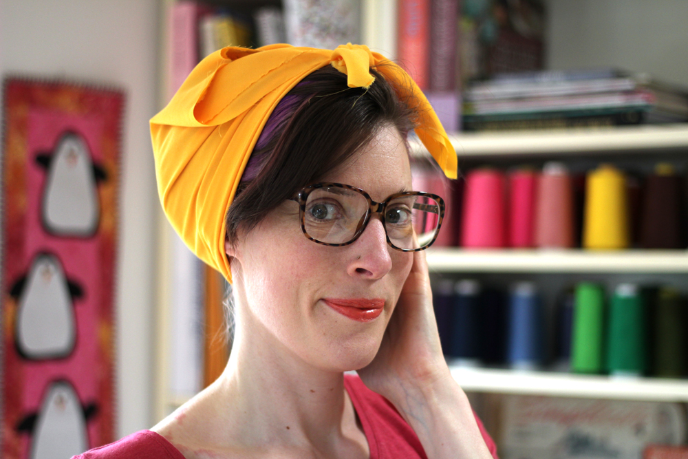 How to Sew and Style a Hair Kerchief