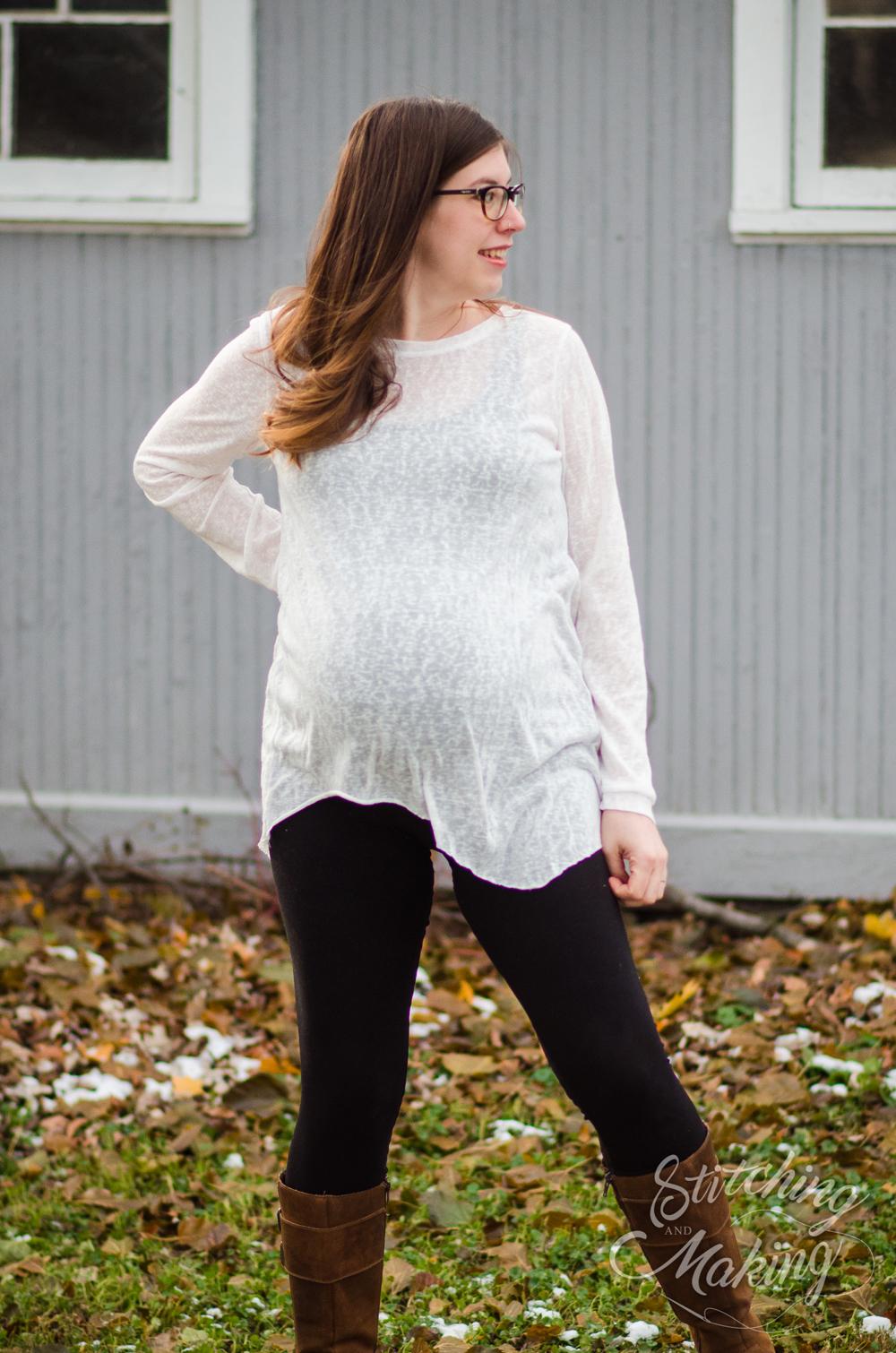 Pregnant Elisabeth in Frankie Mae Top