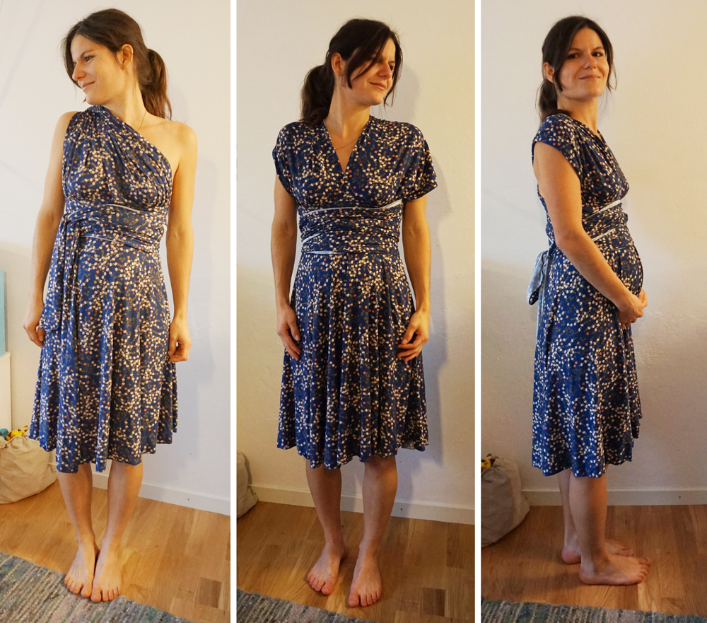 Kiki in Maternity Sewing Knit Infinity Dress