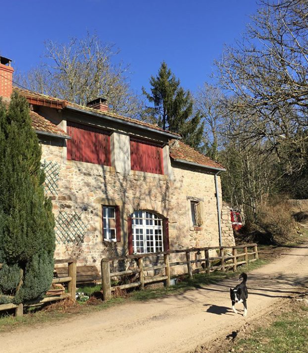 Lisa's house in rural France